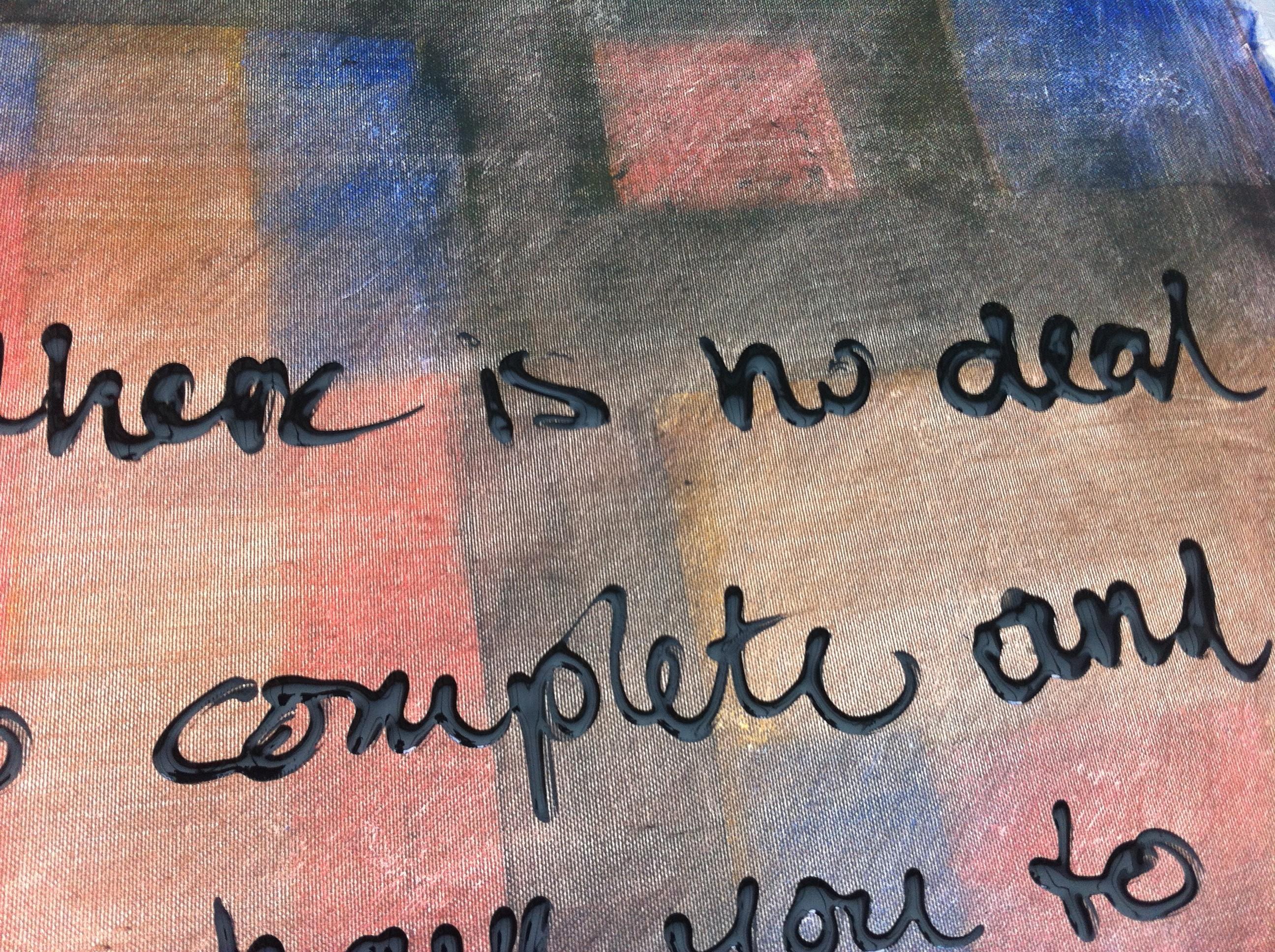 schilderij met tekst STAND