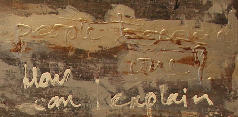 Schilderij met Songtekst detail