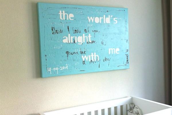 schilderij voor op de kinderkamer