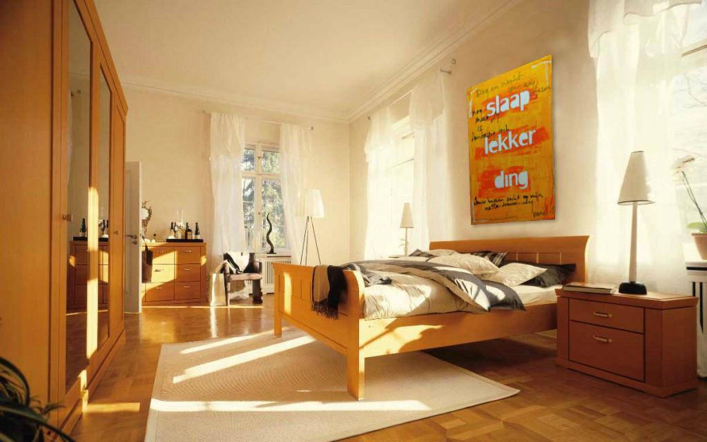 kunst op slaapkamer Slaap Lekker Ding